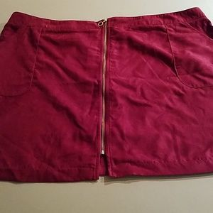 Soft & Velvety Maroon Skirt